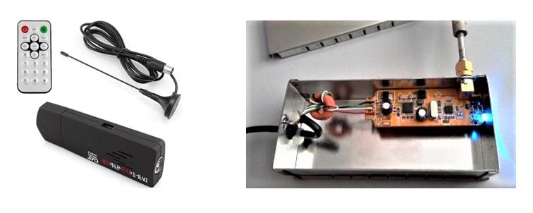 Esempio di radio-spettrometro ''minimo'' sintonizzabile da circa 20 MHz fino a 1500 MHz (con una banda passante di 10 MHz) utilizzabile per esperimenti di radioastronomia amatoriale.
