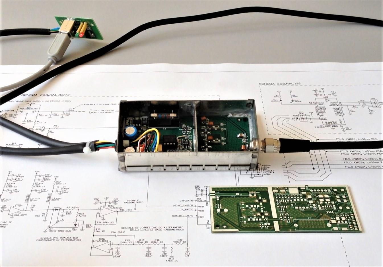 Modulo radiometrico microRAL10 di RadioAstroLab