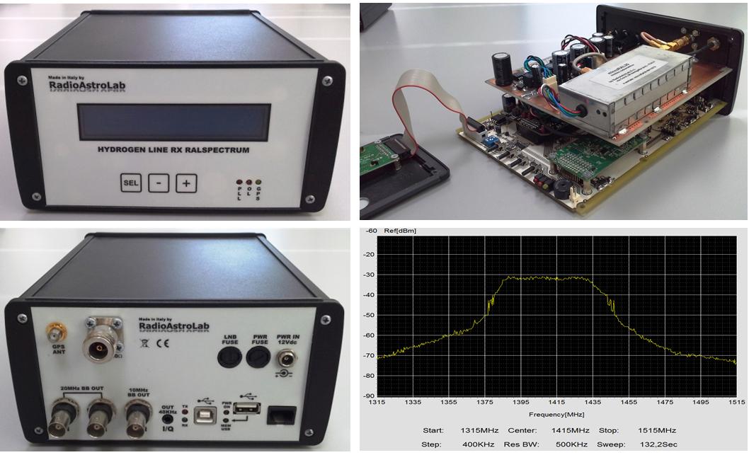 Prototipo di radio-spettrometro FFT funzionante nella banda 1385-1435 MHz