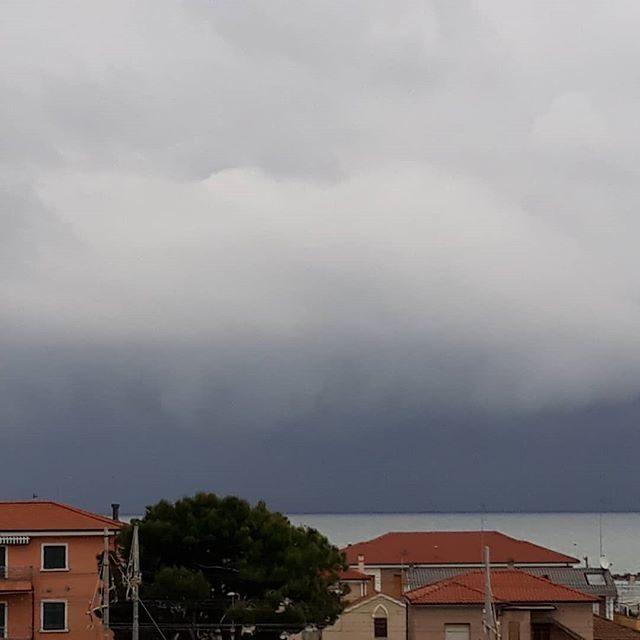 Tempo brutto a Senigallia nel pomerigio del 5 Luglio 2018.